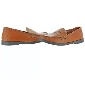 NEW Cole Haan Pinch Penny Loafer BROWN Boys Sz 3Y